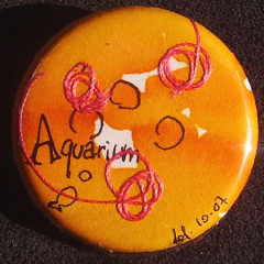 Badge Aquarium Jaune
