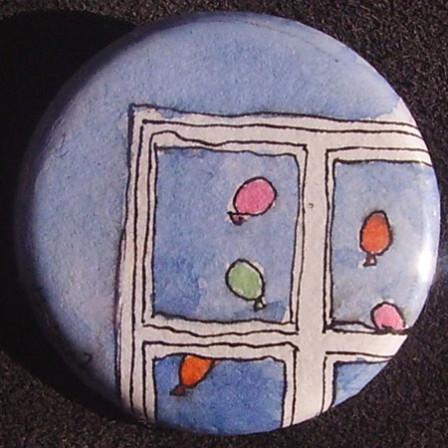 Badge Ballons à la fenêtre