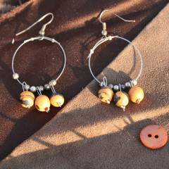 Boucles d'Oreilles Grelots d'Orange