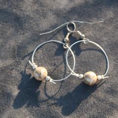 Boucles d'Oreilles Ronde de Jaspe