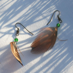 Boucles d'Oreilles Envol Vert