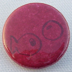 Badge Poisson Rose