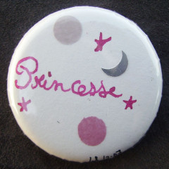 Badge Princesse à la Lune