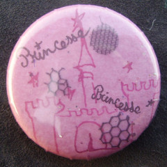Badge Princesse Rose