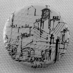Badge Toîts de Paris - Encre
