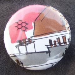 Badge Toîts de Paris - Rouge