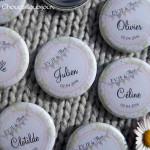 *Kit de 10 badges EVJF - «Champêtre & Liberty» - Dentelle, Vert Anis, Fanions