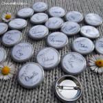 Kit de 10 badges Proches - «Champêtre & Liberty» - Fanions & Toile de Jute