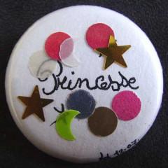 Badge Princesse aux étoiles
