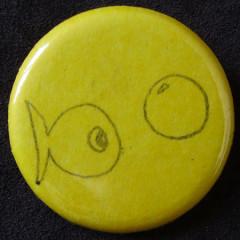 Badge Poisson Jaune