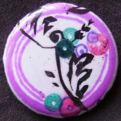 Badge de Mathilde-Paillette de Fleurs