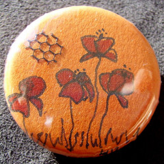 Badge Coquelicots Oranges