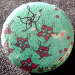 Badge Fleurs Turquoise 1.0