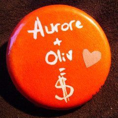 Badge Aurore+Oliv