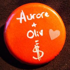 Badge Aurore+Oliv