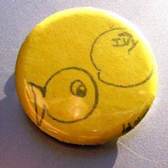 Badge Poisson Jaune IVY