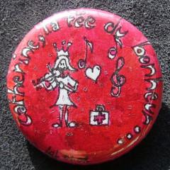 Badge Personnalisé Catherine la fée du bonheur