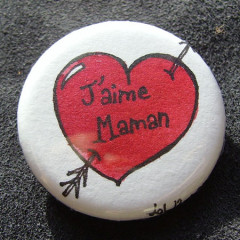 Badge-J'aime Maman