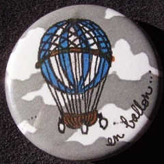 Badge Montgolfière - En Ballon