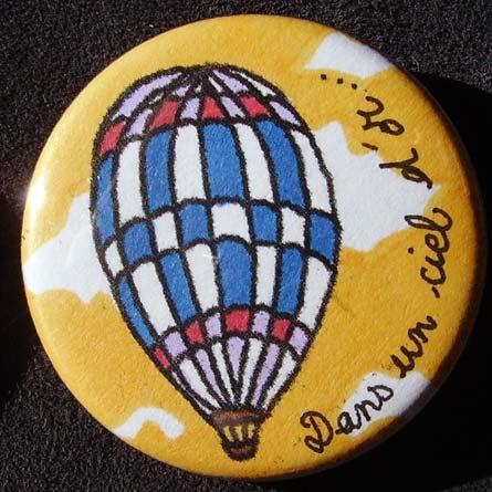 Badge Montgolfière - Ciel d'Or