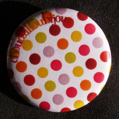 Badge à Pois - Damier