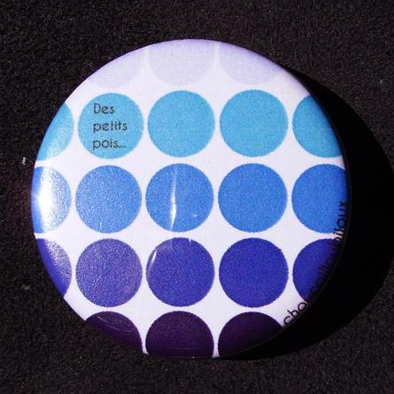 Badge Des petits pois - Bleu