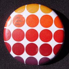 Badge Des petits pois - Rouge