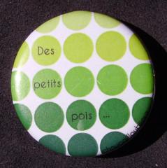 Badge Des petits pois - Vert