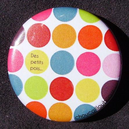 Badge Des petits pois - Multicolore