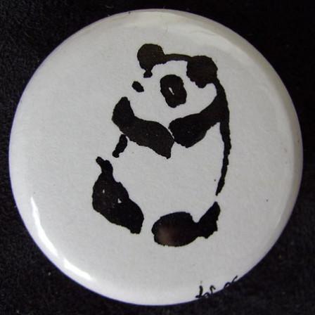 Badge Panda calin