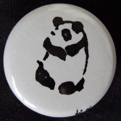 Badge Panda calin
