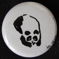 Badge Panda couché