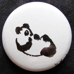 Badge Panda sur le dos