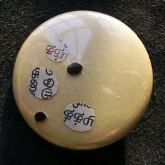 Badge Paillettes Tamoul sur Or