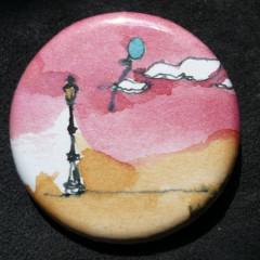 Badge Candélabre au Soir