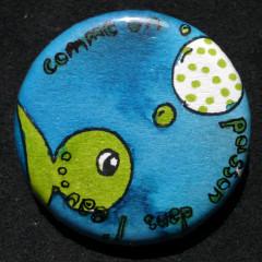 Badge Comme un poisson dans l'eau