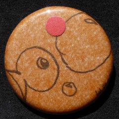 Badge-Poisson Orange