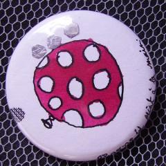 Badge Ballon Rose