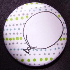 Badge-Ballon de Paques Bleu