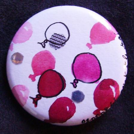 Badge Ballons Roses