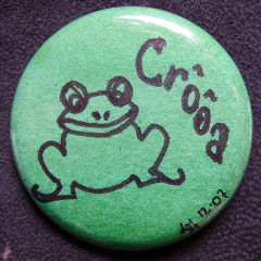 Badge Grenouille Croa