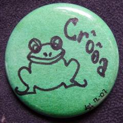 Badge Grenouille Croa