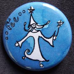 Badge Personnalisé Fée Bleue