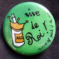 Badge-Vive le Roi Vert