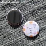 Badge/Magnet/Aimant Merci ! - Pois Pastels