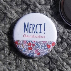 Badge/Magnet/Aimant Merci ! - Liberty Bristol