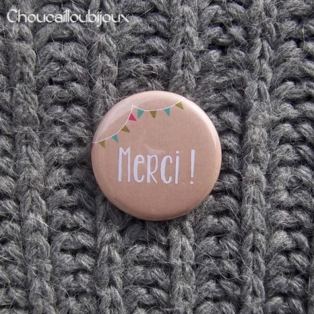 Badge/Magnet/Aimant Merci ! - Craft Fanions