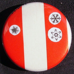 Badge Flocons - Rouge & Blanc