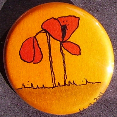 Badge Coquelicots - Orange