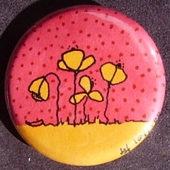 Badge Coquelicots -   Pois Rouges